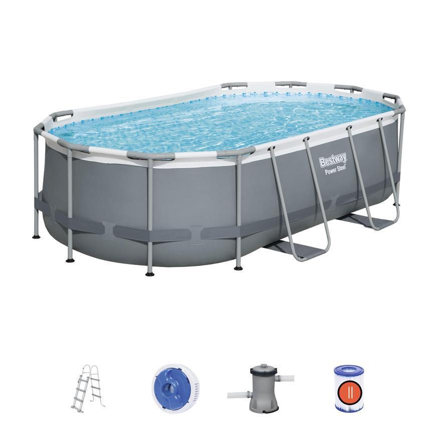 Bazén Bestway® Power Steel™, 56620, 427x250x100 cm, filter, pumpa, rebrík
