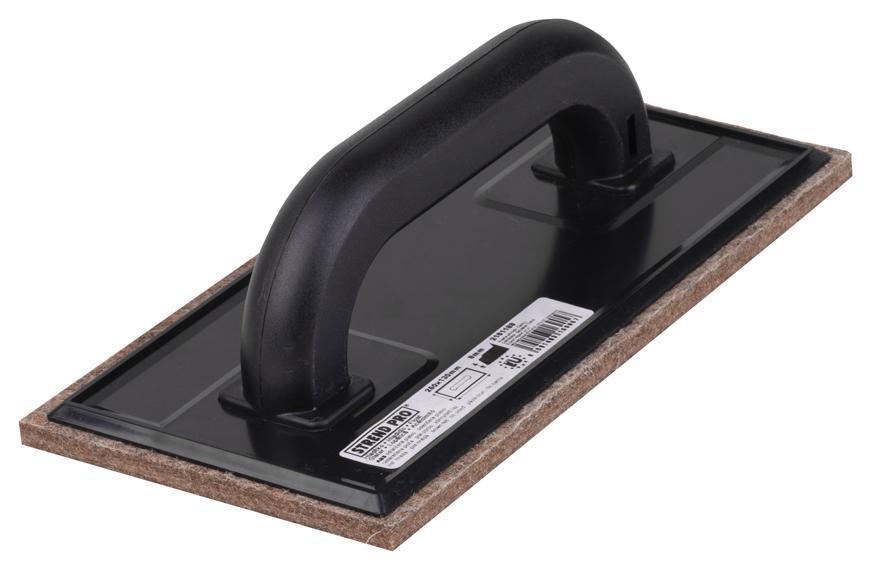 Hladítko Strend Pro, 250x130x08 mm, ABS, plsť hnedá, hobby