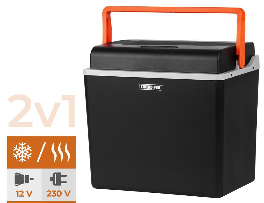 Autochladnicka Strend Pro, 2v1, 30 lit, 230V/12V, POLYSTYREN izolácia