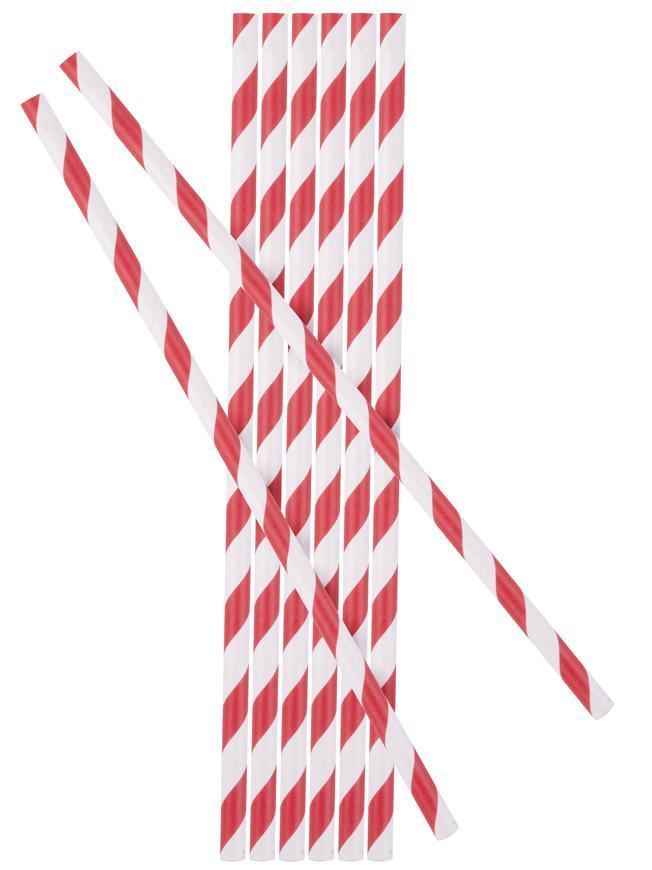 Slamka MagicHome Paper ECO, 6x197 mm, červená, bal. 25 ks