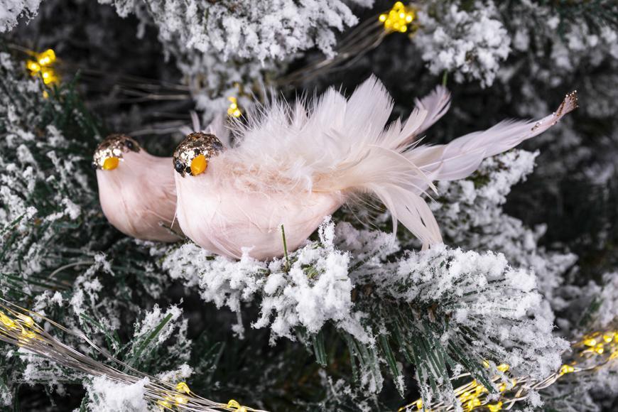 Vtáčatká so štipcom MagicHome, ružové, pár, 14x6x5 cm
