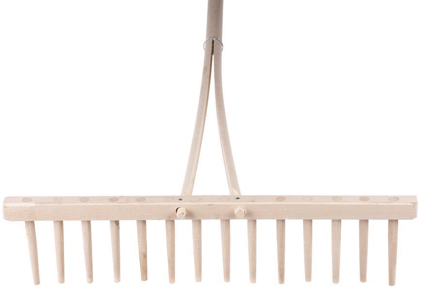 Hrable drevené 14 zubé, s násadou