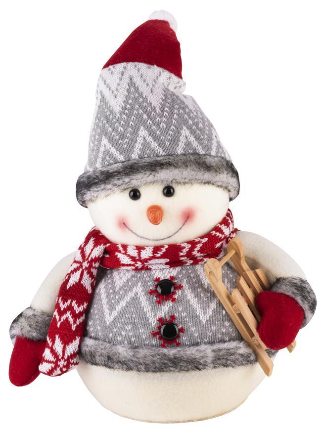 Dekorácia MagicHome Vianoce, Snehuliak, 30 cm