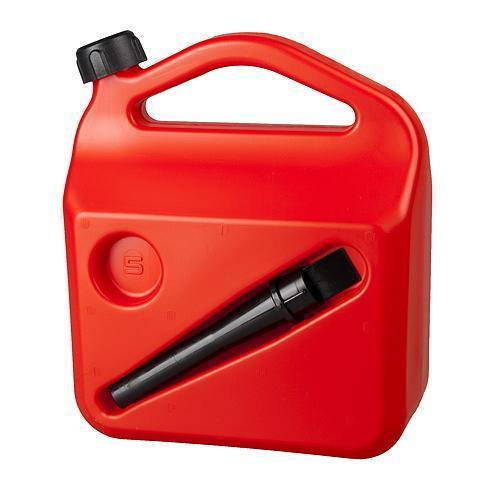 Kanister HOLECZECH plastový, 05 lit, na PHM, červený