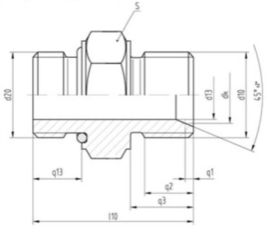 "Srubenie Messer 0.463.341, G1"" RH-G3/4"" RH, Simax, nehorl. plyn"