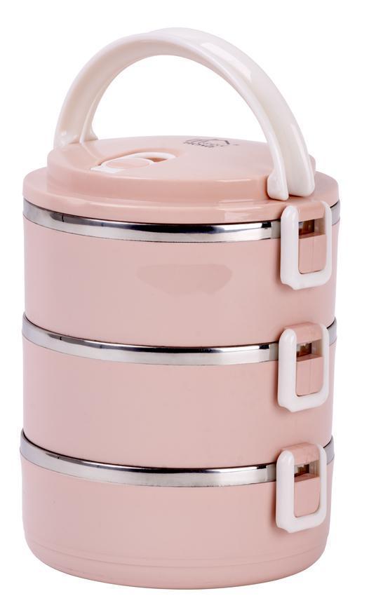 Obedár MagicHome LB933, 3 dielny, 1.5 lit, ružový
