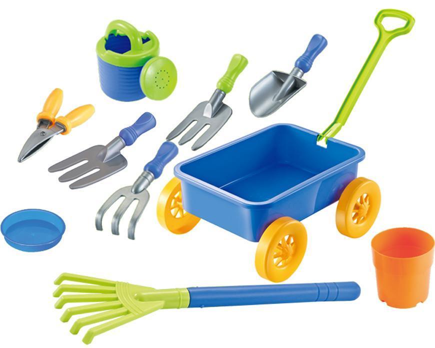 Sada hračiek do piesku s vozíkom, 9 dielna