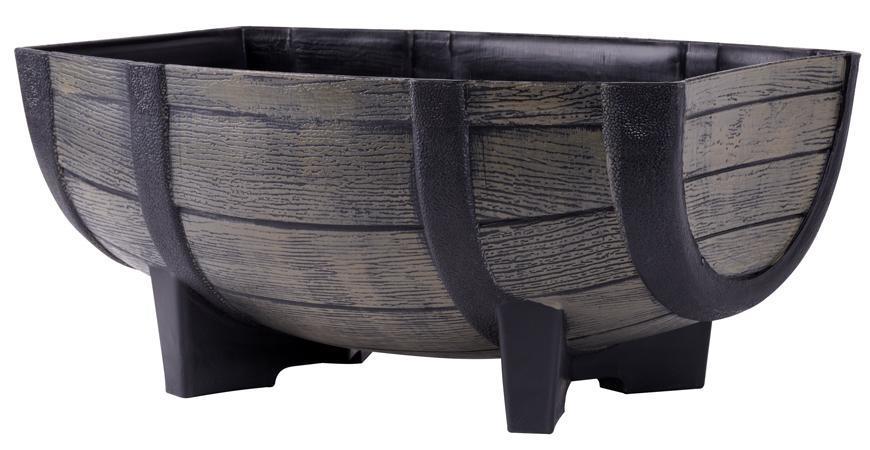 Kvetinac GDA Woodeff 817, natural, 41x29x19 cm, barel