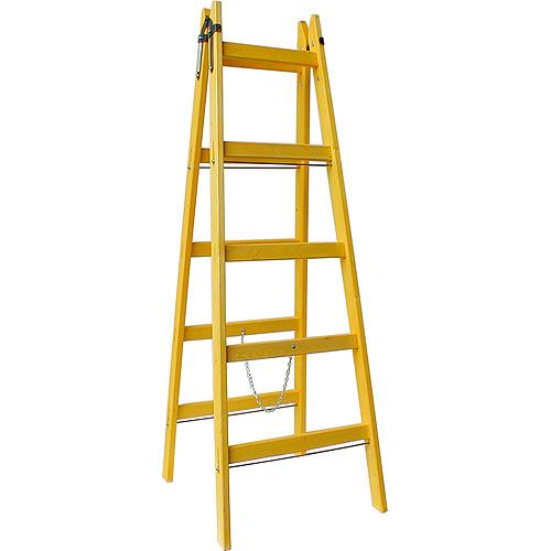 Rebrík DRD A 4 priečkový, 134 cm, drevený, 1 retiazka