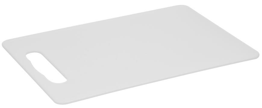 Doska Strend Pro, na krájanie, plastová, biela, 33,5x23x0,5 cm