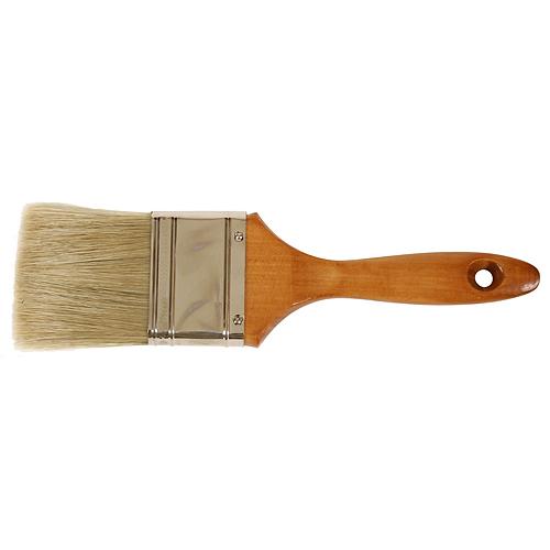 """Štetec JA019, 1,0"""", plochý, yellow, s drev. rúčkou"""