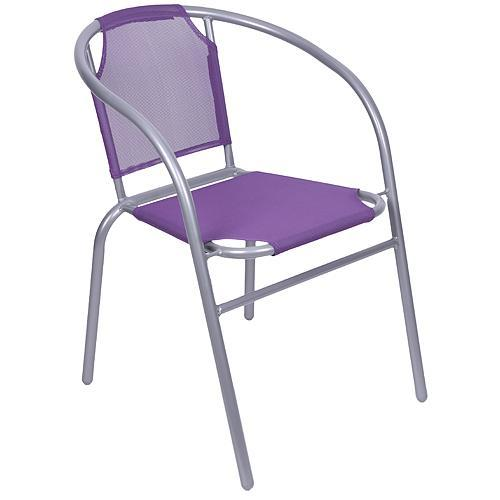 Stolička LEQ BRENDA, fialová, 60x71 cm