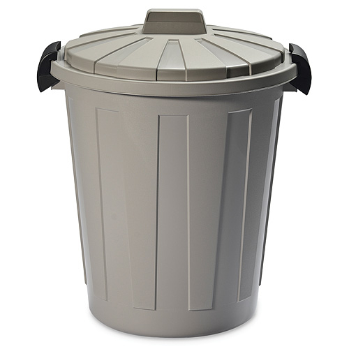 Kôš DEAhome Ladybin 45 lit, šedý, na odpad