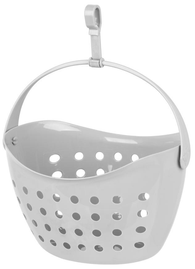 Košík Strend Pro, na štipce, sivý, 21x16,5x14,5 cm
