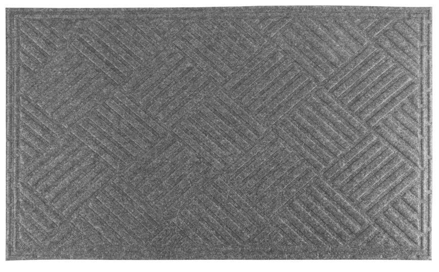Rohožka MagicHome CBM 5013, Rhombus, 75x45 cm, seda