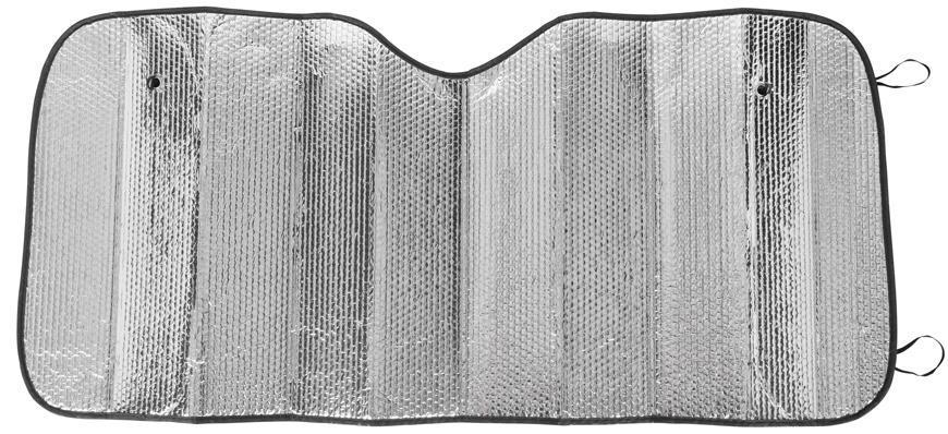 Clona na čelné sklo auta 60x130 cm, s prísavkami, vnútorná, Alu
