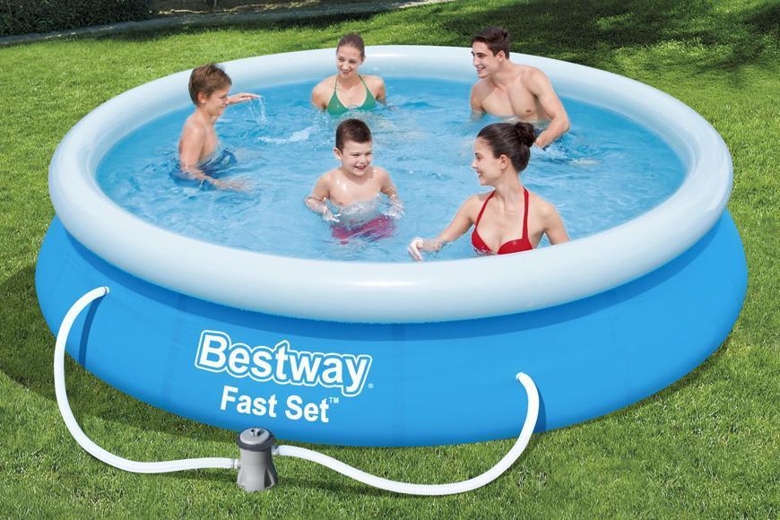 Bazén Bestway® 57274, nafukovací, filer, pumpa, 3,66x0,76 m