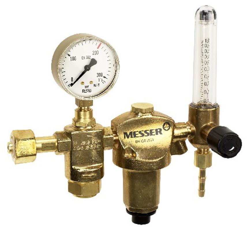 "Ventil Messer 716.20131, G1/4"" DN6, 1l, Ar/CO2, prietokomer"