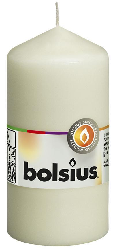 Sviecka bolsius Pillar 120/60 mm, krémová