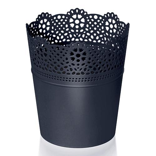 Kvetináč LACE 140 mm, čierny