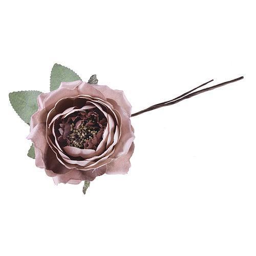 Kvet ruža rozvitá, ružová, stonka, bal. 6 ks