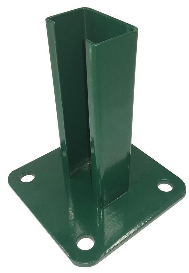 Pätka EUROSTANDARD, pre stlpik 60x40, zelena, RAL6005, na ukotvenie