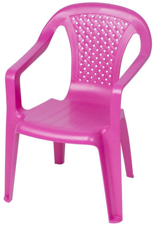 Stolička BABY Camelia Pink, ružová, detská, 52x40x36,5 cm