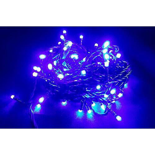 Retaz MagicHome Orion, 10 m, 100xLED modré, 8 funkcií, 230V, interiér