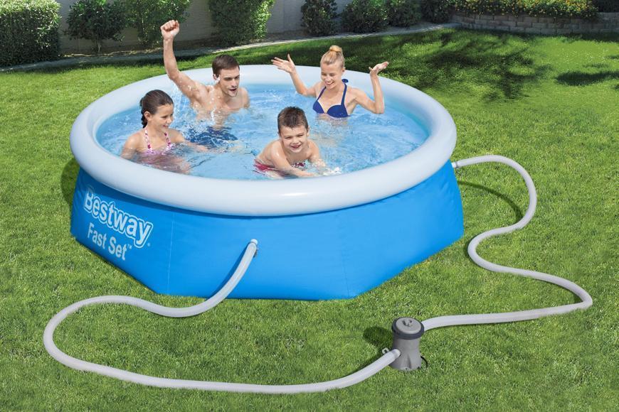 Bazén Bestway® 57268, nafukovací filter, pumpa, 2,44x0,66 m