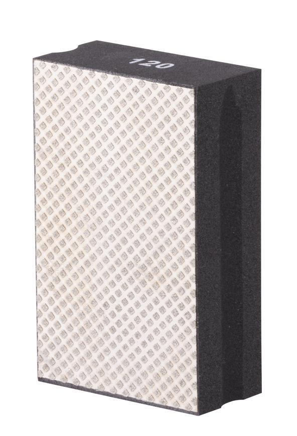 Podlozka brúsna Strend Pro DP510, 95x55x30mm, P120, diamantová, pre obkladačov