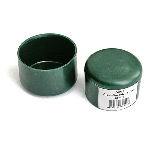 Ciapka METALTEC 38 mm, na okrúhly stĺpik, plastová, zelená