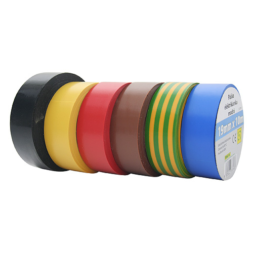 Páska E130YGR, zelenožltá, izolačná, 19 mm, L-10 m, PVC