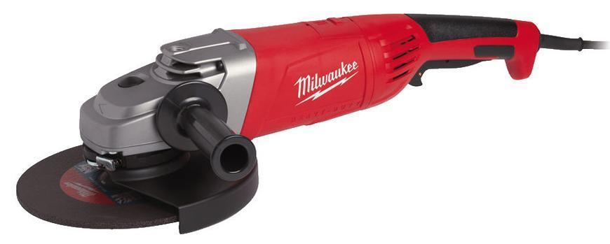 Bruska Milwaukee® AG 24-230 E, 230 mm, 2400W, Protector-motor, uhlová