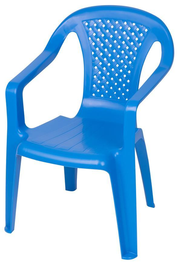 Stolička BABY Camelia Blue, modrá, detská 52x40x36,5 cm