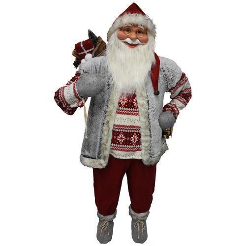 Dekoracia XmSA25, Santa, s vestou, 150 cm