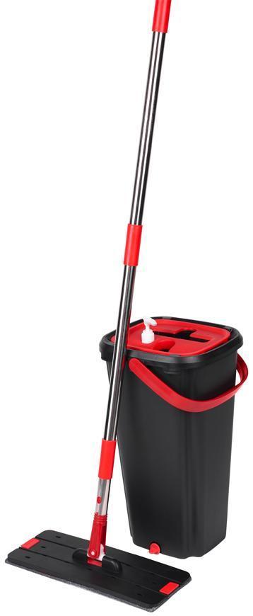 Mop QuickShine MagicHome, plochý, s 8 lit. žmýkacím vedrom