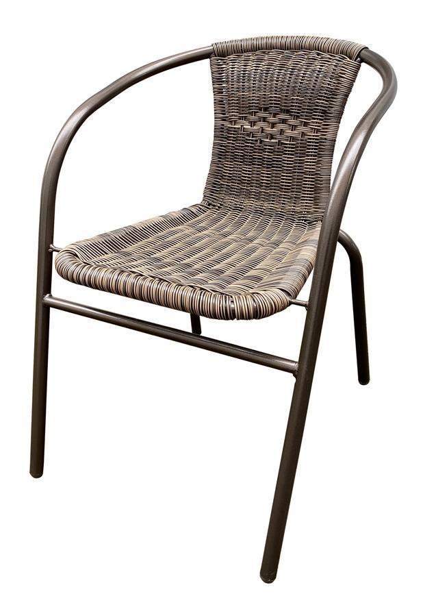 Stolička LEQ NESTA, rattan hnedá, pre set 802412