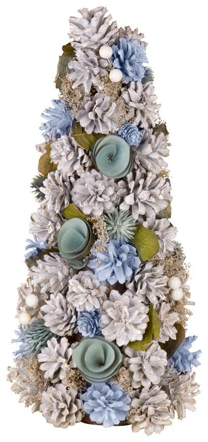 Stromček prírodný MagicHome, modrý, 40 cm,
