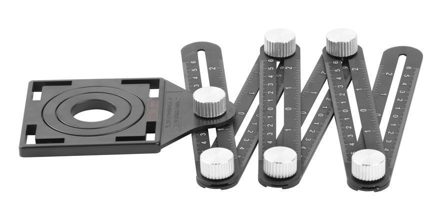 Meter Strend Pro, kopírovacia pomôcka pre obkladačov, 12x17,5x1,6 cm, skladací