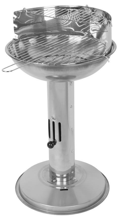 Gril Strend Pro Capri, BBQ, nerezový, na drevené uhlie, 500x390x680 mm