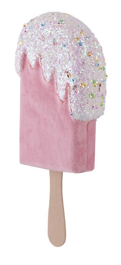 Dekorácia MagicHome Candy Line, nanuk, ružový, 18 cm, závesný