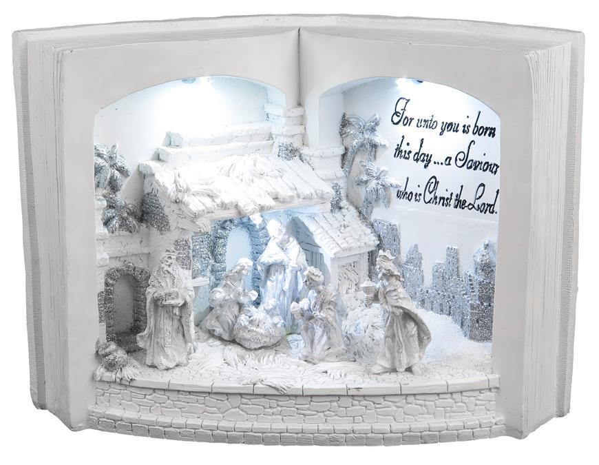 Dekoracia Xecco 9762, Betlehem v knihe, LED, 3xAA