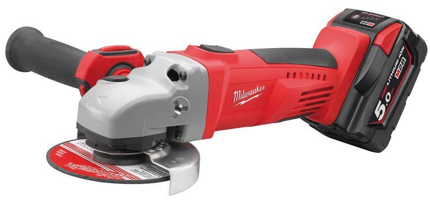 Bruska Milwaukee® HD28 AG115-502X, 2x5.0Ah, 115mm, uhlová