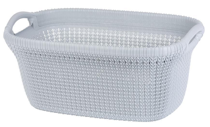 Kôš Curver® KNIT 3677 40L, svetlomodrý, 60x27x39 cm, na bielizeň, prádlo