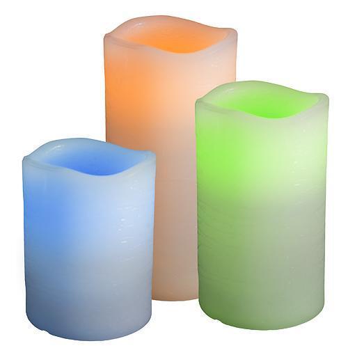 Sviecky MagicHome FLC932, sada 3 ks, farebné, LED, 3xAAA, diaľkový ovládač, vosk