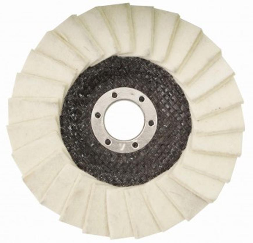 Kotuc GermaFlex Gerfelt 125x22.2 mm, Filc, lamelovy, skladany, 6.100 ot/min