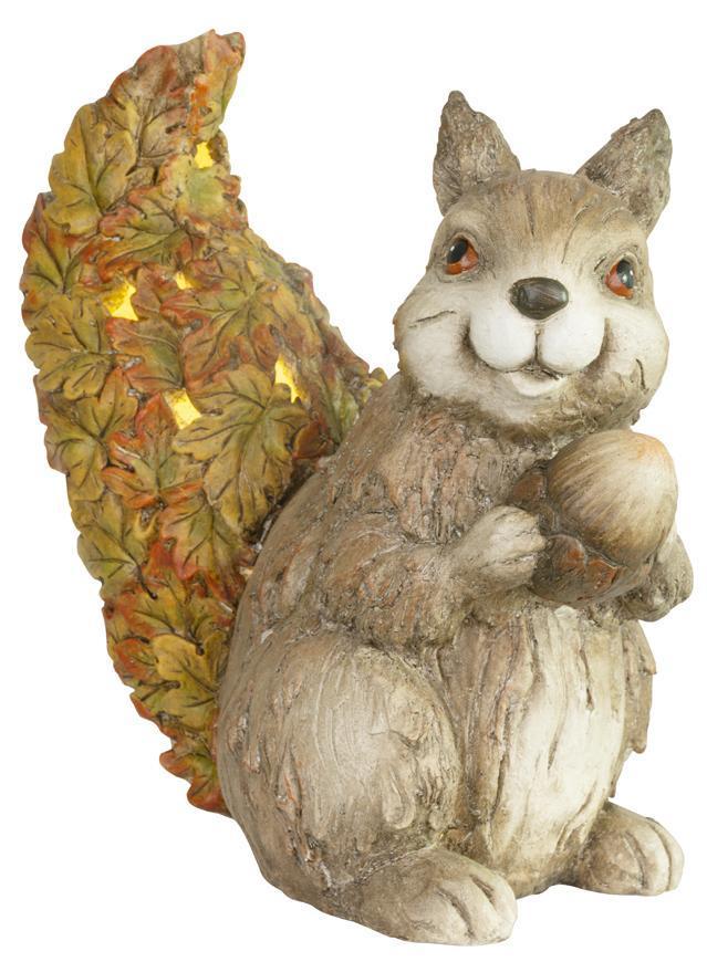 Dekorácia MagicHome Nature, Veverička s orieškom, keramika, 33x19x34,50 cm
