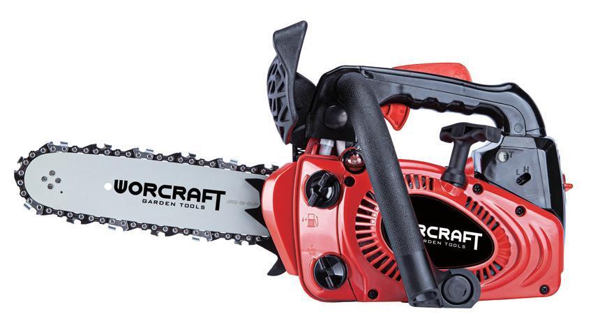 Pila Worcraft GCS26-10, 700W, benzínová, reťazová, kompaktná, 25cm lišta