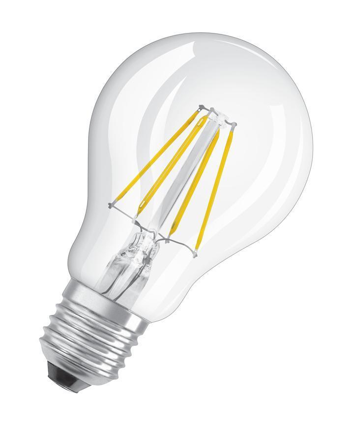 Ziarovka OSRAM® LED FIL 040 (ean9634) non-dim, 4W/827 E27 2700K Value CLASSIC A