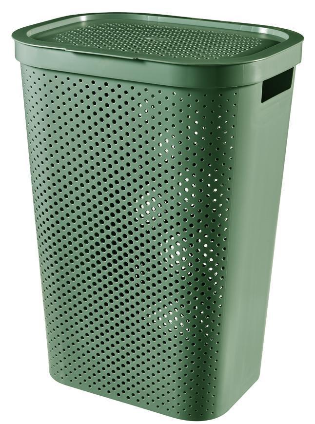 Kôš Curver® INFINITY RECYCLED 60L, zelený, 44x60x35 cm, na bielizeň, prádlo